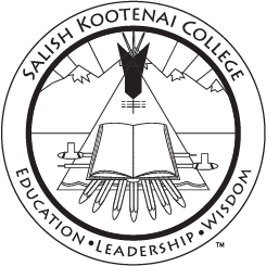 Salish Kootenai College Black and White Seal