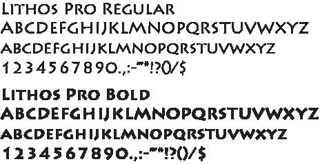 SKC Font Lithos Pro