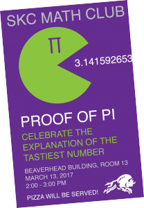 SKC Math Club Pi Party 2017 Poster