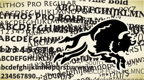 Typography Bison