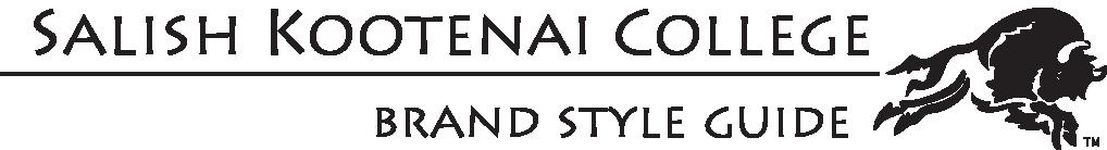 Salish Kootenai College Brand Style Guidelines